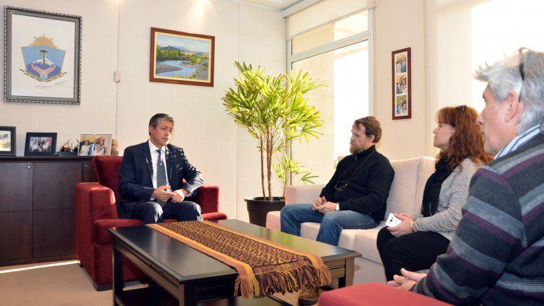 Figueroa y Guagliardo conversaron en el despacho del vicegobernador.