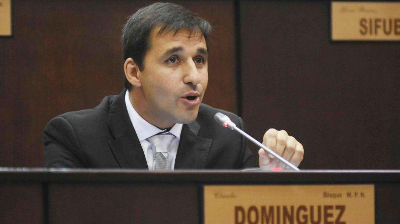 Domínguez se queja porque hay temas que se postergan.