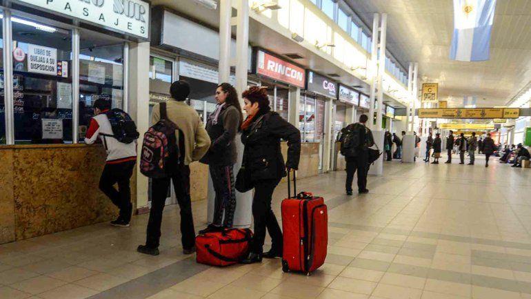 Hubo mucha venta de pasajes a Temuco y Concepción.
