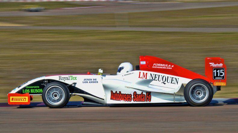 Mendaña quedó segundo en la última vuelta de la Fórmula 4 Sudamericana