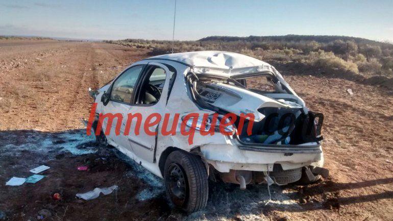 Un vecino de Junín de los Andes murió tras un violento vuelco sobre la Ruta 237