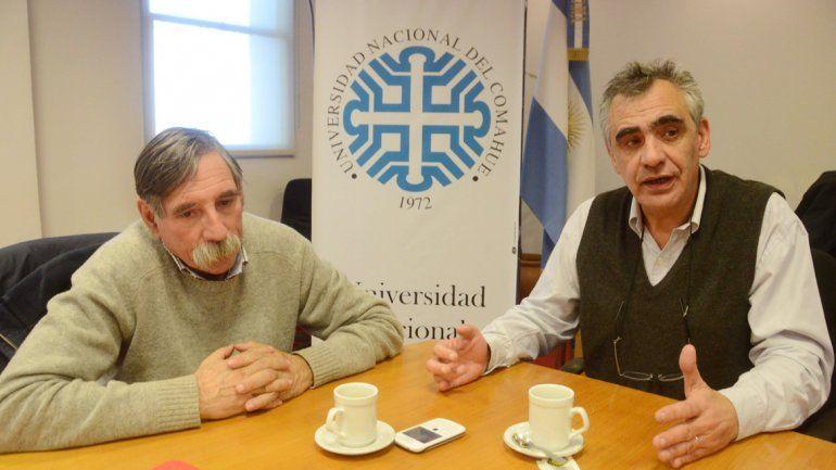 Gustavo Crisafulli y Enrique Mases explican las necesidades de la UNCo.