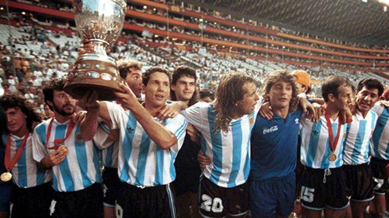 El último festejo de Argentina fue en la Copa América de 1993 que se jugó en Ecuador.