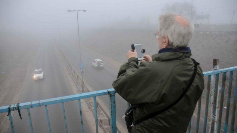 Niebla sobre la Ruta Provincial 7.