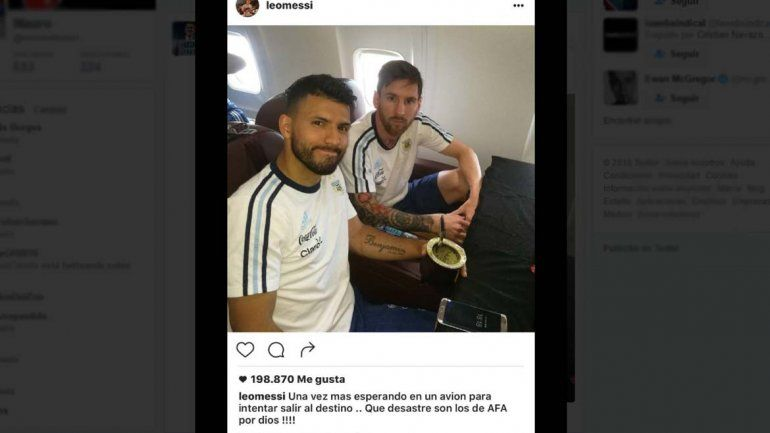 Messi se calentó y le apuntó directo a la AFA