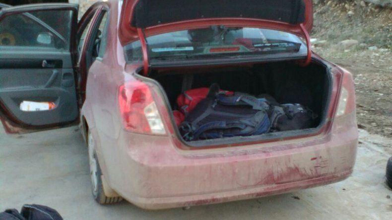 Los delincuentes llevaban la carga en mochilas.