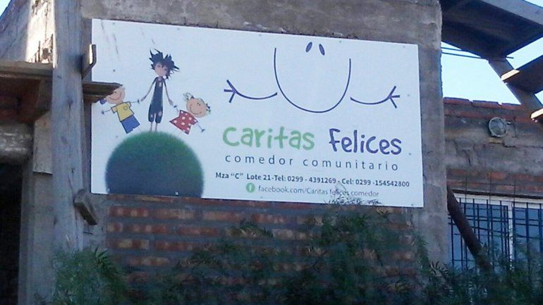 Comedor comunitario Caritas Felices.