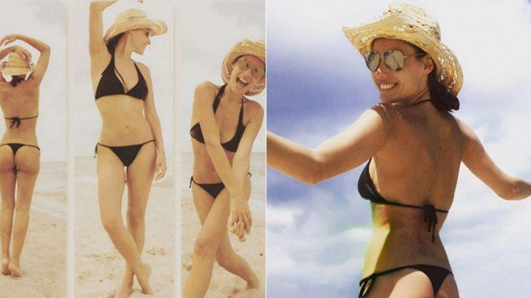 Pampita despliega toda su figura y belleza en las playas de Miami.
