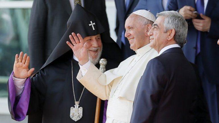 Turquía criticó al papa Francisco por su viaje a Armenia