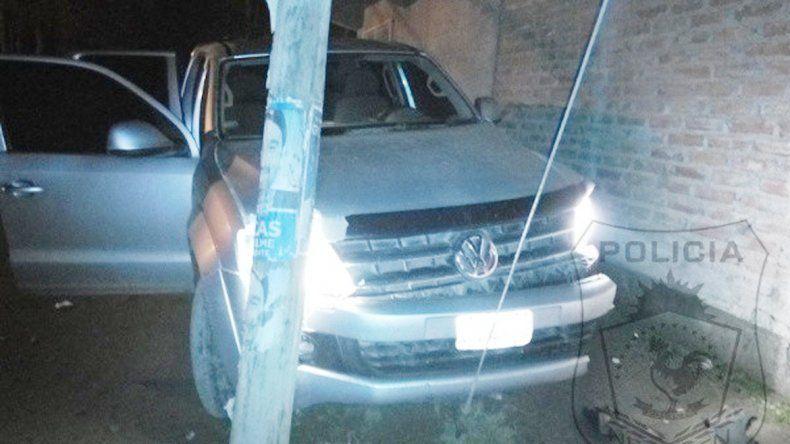 La camioneta en la que iban los ladrones fue robada en Bahía Blanca.