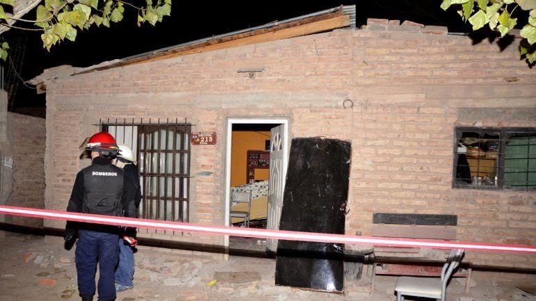 La casa corre riesgo de derrumbe tras la explosión.