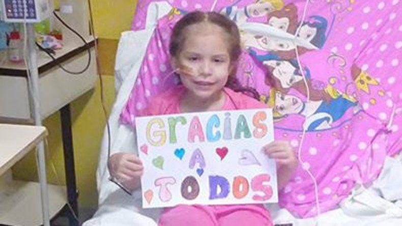 La niña se encentra internada en el hospital Garrahan.