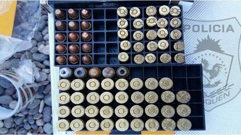 Secuestraron municiones de distinto calibre.