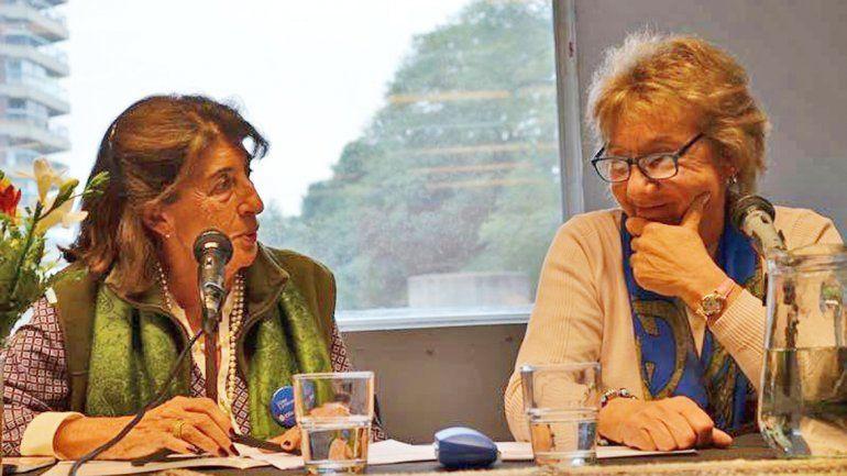 Marta Talero y Mercedes Lucero en la presentación del libro Cartas de otoño.