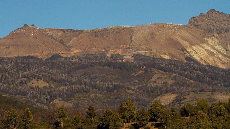 Cerro Chapelco sin nieve al 3 de julio de 2016.