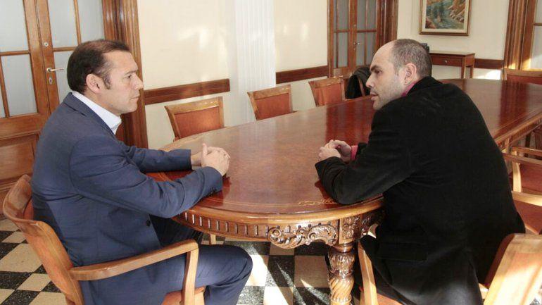 Gutiérrez recibió en su despacho al intendente Esteban Cimolai.