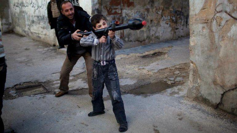 Uno de cada nueve niños crece en una región en guerra