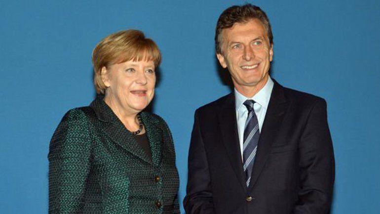 Macri almorzó con Merkel en la cancillería alemana