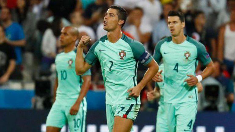 Ronaldo metió el primero ante Gales. Hoy Francia vs. Alemania.