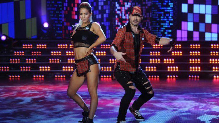 Peter Alfonso y su bailarina Florencia Vigna durante la gala de Street Pop.