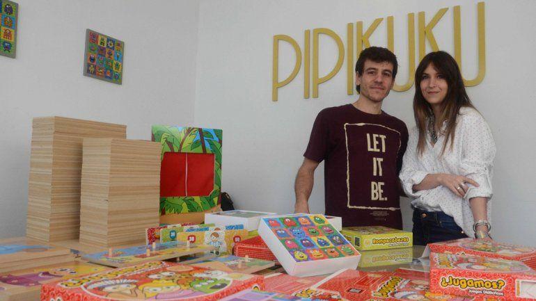 Esteban Siciliano y Agustina Malter y su pyme pensada para niños.