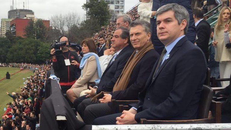 Macri dio marcha atrás y presidió el cierre de los festejos