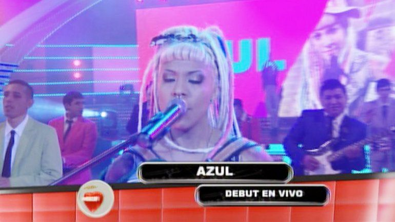 La dama del acordeón debutó en el programa de música tropical.
