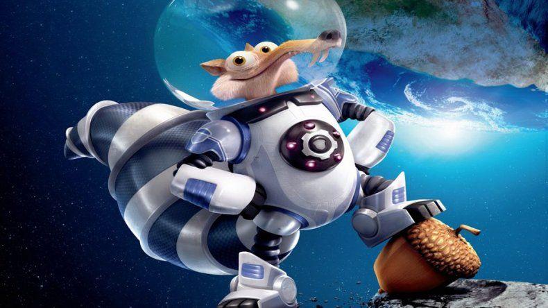 Scrat llega al espacio persiguiendo su preciada avellana en La era de hielo 5.