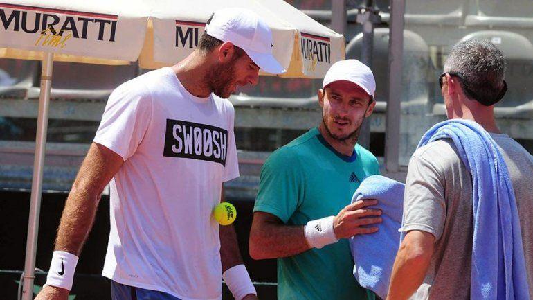 Del Potro y Mónaco entrenaron juntos en el equipo de la Copa Davis