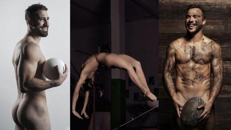 Mirá como se desnudaron deportistas argentinos para una revista