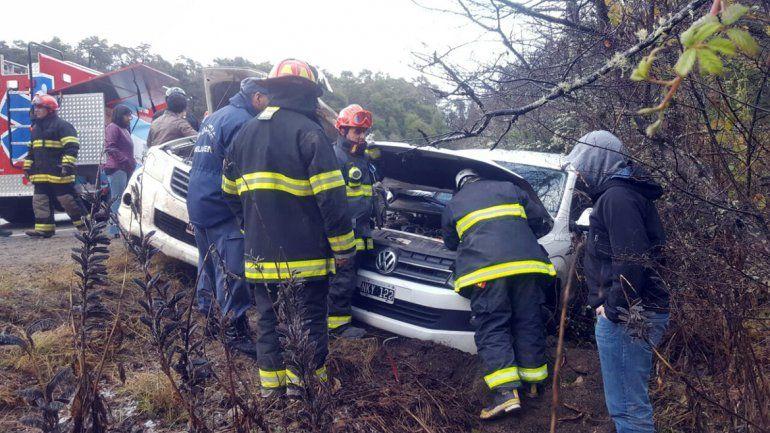 Un herido al chocar dos camionetas sobre la Ruta 40