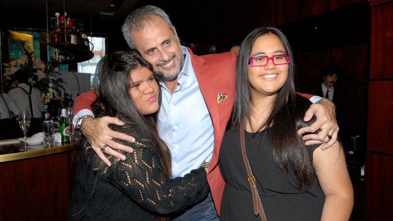 Jorge Rial junto a sus dos hijas: Morena y Rocío.