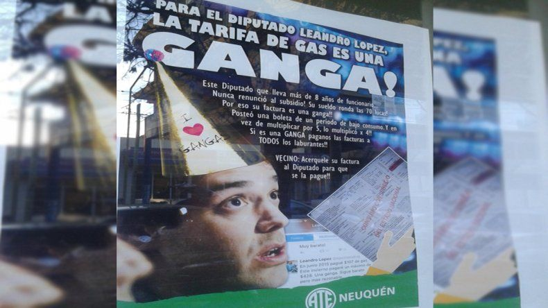 Escrachan a Leandro López luego de que dijera que el tarifazo es una ganga