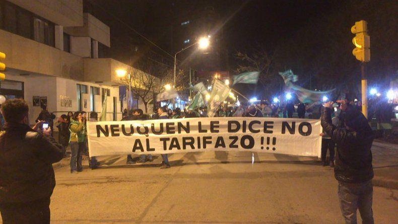 Neuquén se sumó a la marcha contra el tarifazo
