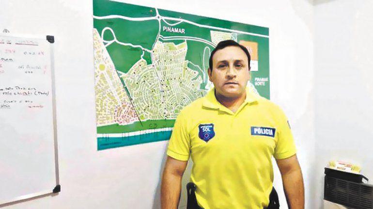 Fabián Guiñazú es el comisario de Pinamar que rápidamente fue desplazado de su cargo. Sin saberlo