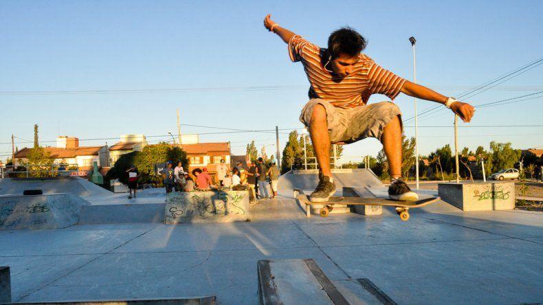 La pista de skate del barrio Canal V es una de las primeras obras realizadas con el presupuesto participativo.