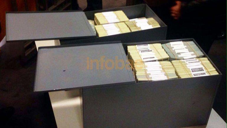 El dinero encontrado en las cajas de seguridad de Florencia K