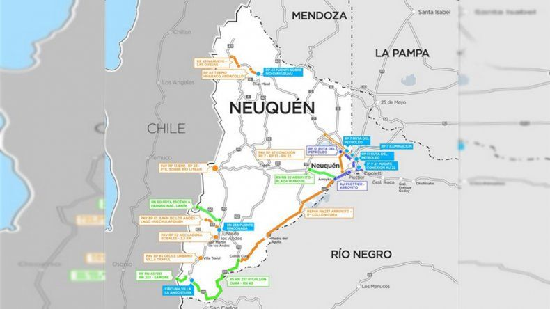 El mapa de las 24 obras que se realizarán en la provincia