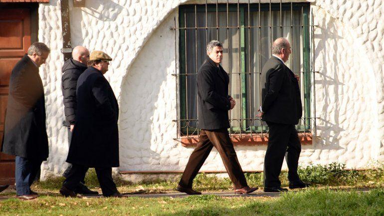 El juez Rafecas durante el operativo de hoy en el convento.