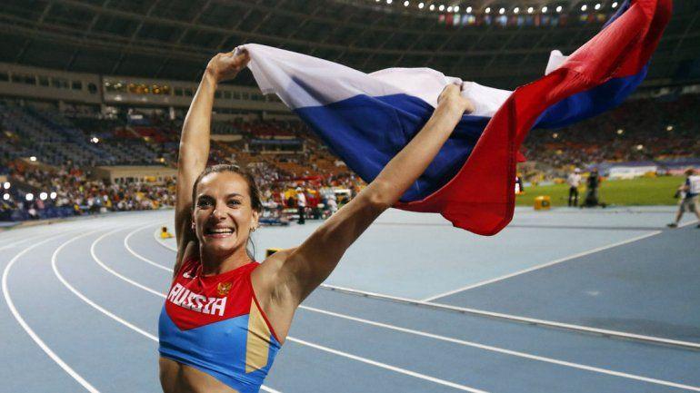Yelena Isinbáyeva.