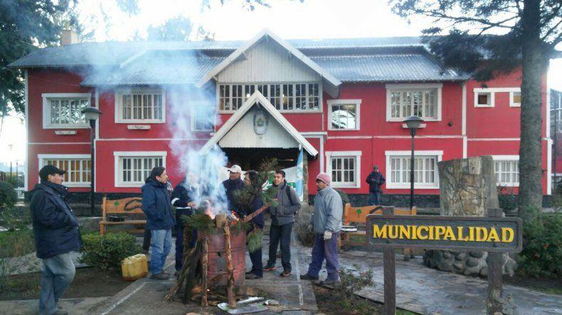 Municipales de ATE en Junín de los Andes.