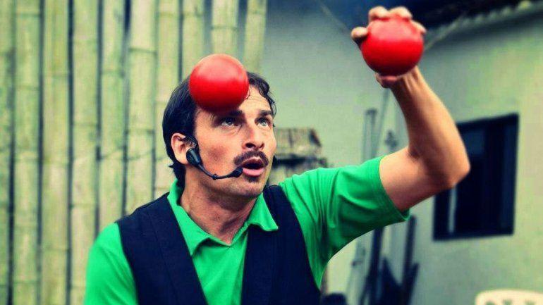 Años de entrenamiento. Facundo se prepara desde los 16 años para ser clown.