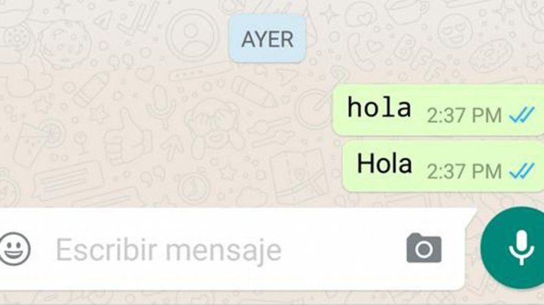 Podés ponerle tu propio estilo de letra a los mensajes por WhatsApp