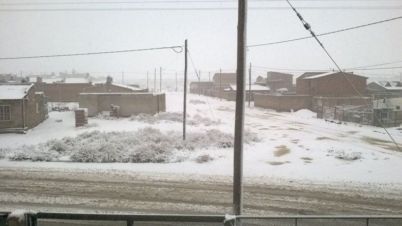 La nevada en Cutral Co.