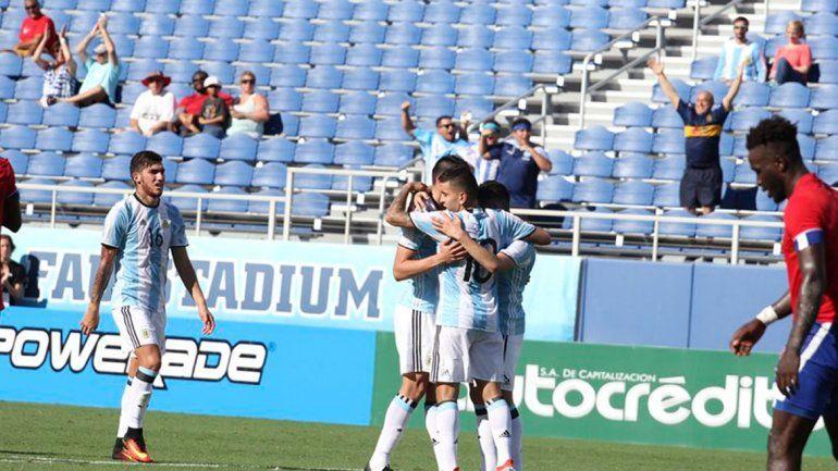 Argentina venció 3 a 1 a Haití en el segundo amistoso