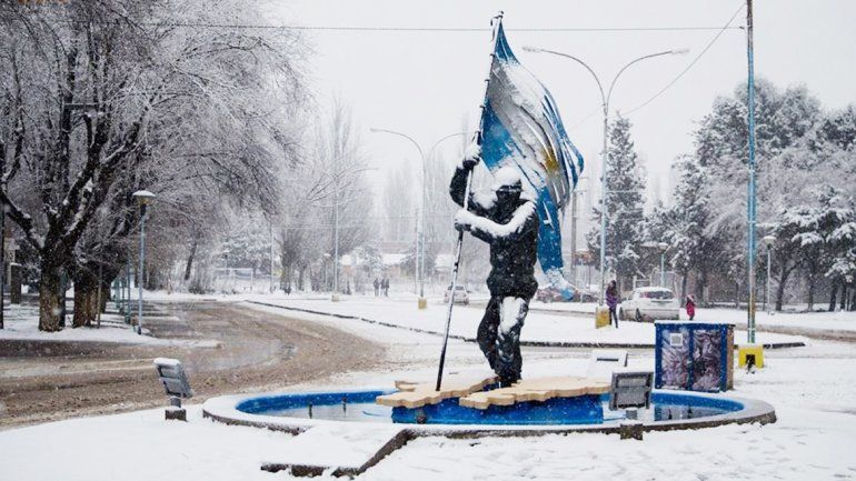 La nieve cubrió gran parte de la provincia