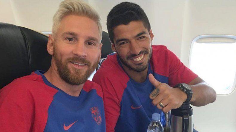 Messi, con nuevo look, ya se incorporó al Barcelona