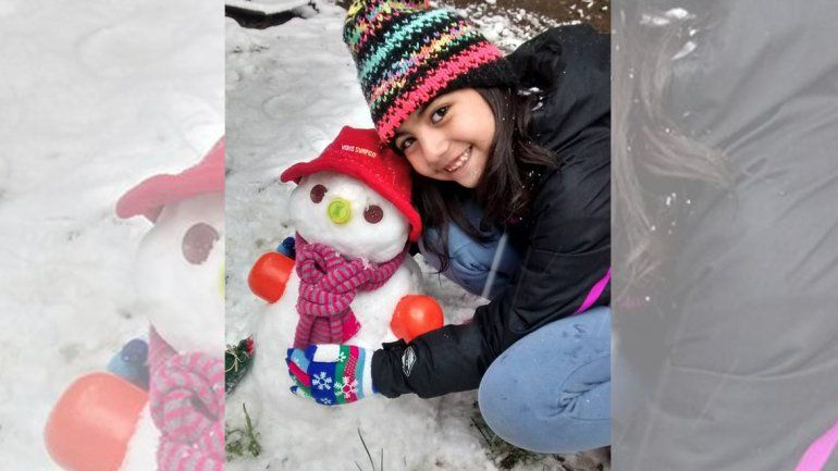En la comarca petrolera los vecinos se convirtieron en expertos escultores con la nieve