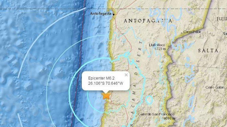 Chile volvió a temblar: no hubo daños materiales ni víctimas