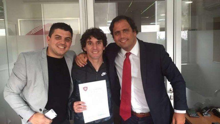 Corujo ayer firmó y hoy se entrena con el Ciclón.
